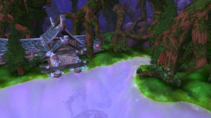 Lake druid village at Hyjal