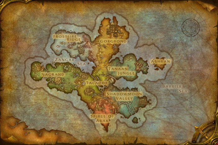 Up-to-Date Map of Draenor