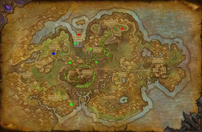 Shipyard Tanaan Equipment Map - Clickable