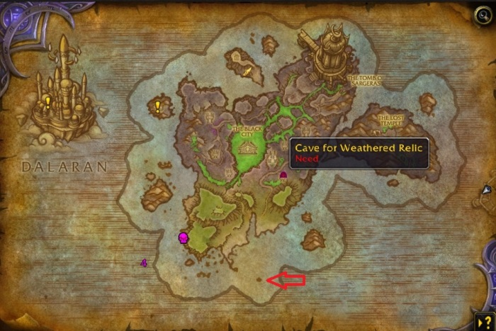 Broken Shore Anduin Questline - Varian Compass Map